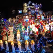 Este es el barrio más extravagante de la navidad