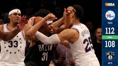 ¡Con bronca incluida! 76ers vencen a Nets y están a un triunfo de avanzar