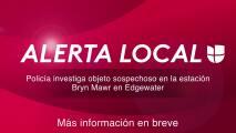 Policía investiga objeto sospechoso en la estación Bryn Mawr en Edgewater