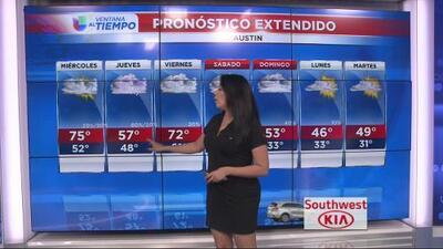 Continuarán las lluvias las próximas horas en Austin