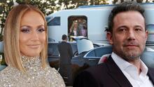 Con sus gemelos y mucho equipaje, JLo llega a Los Ángeles mientras Ben Affleck disfruta Las Vegas con su 'suegra'