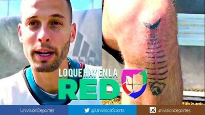 ¡El pescado que se burla del dolor! Sergio Canales reveló el significado del tatuaje en su rodilla