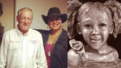 Escultura de Maleah Davis encuentra hogar en las oficinas de Texas Equusearch en Houston