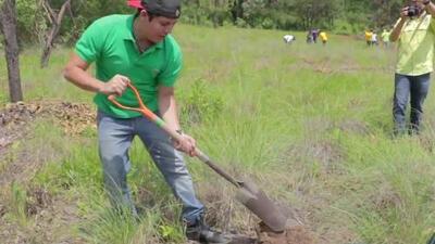 Nos encontramos a Remmy Valenzuela sembrando árboles y te contamos por qué
