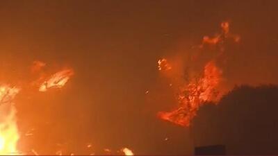 Fuertes vientos propagan incendio de maleza en Sylmar y anuncian evacuaciones obligatorias