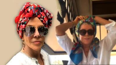 Rebecca Jones venció el cáncer y ahora enseña a quienes lo sufren cómo cubrirse con un turbante si pierden pelo