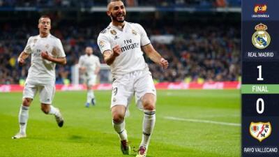 Benzema da triunfo por la mínima al Real Madrid antes de partir al Mundial de Clubes