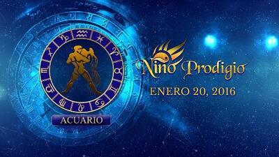 Niño Prodigio - Aries 20 de enero, 2016