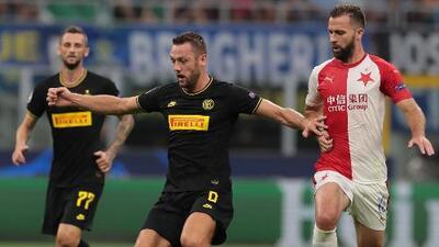 Inter 1-1 Slavia Praga - Resumen y Goles - Grupo F - Champions League