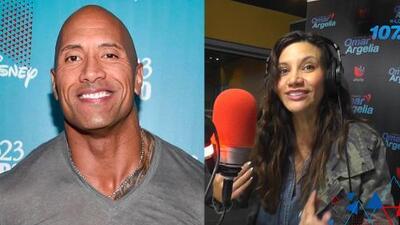 """""""Como un osito de peluche """": Así recuerda Argelia a Dwayne 'La Roca' Johnson cuando lo entrevistó"""