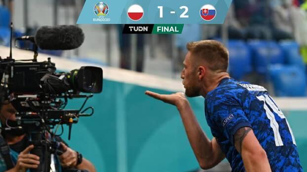 Eslovaquia sorprende a Polonia y se lleva los tres puntos