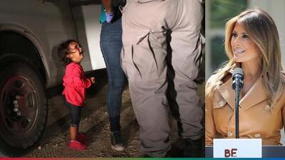 Melania se puso al 'tú por tú' con Trump ante política de separación de familias