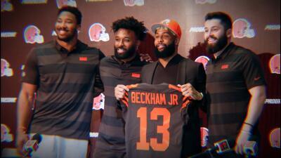 Así fue la presentación de Odell Beckham Jr. con los Cleveland Browns