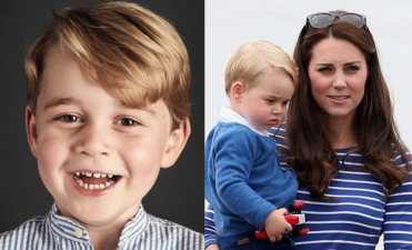 Mira la carita triste del príncipe George en su primer día de escuela, te romperá el corazón