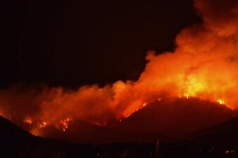 En fotos: el voraz incendio que amenaza al norte de Arizona