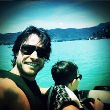 Sebastián Rulli disfrutó el fin de semana con su hijo