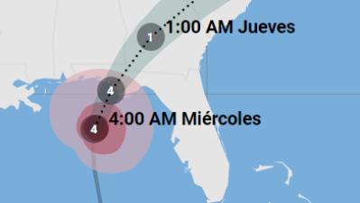 Sigue aquí la trayectoria del huracán Michael luego de tocar tierra en Florida