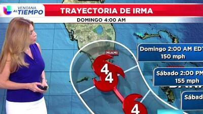 Huracán Irma tuvo una leve disminución en la velocidad de los vientos bajando a categoría 4