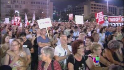 Manifestantes exigen una solución duradera en la franja de Gaza