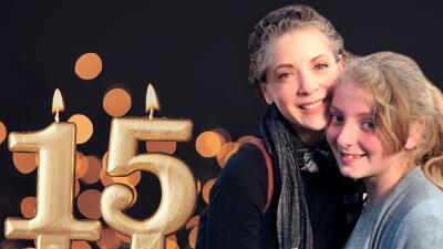 Con pastel y el 'Señor Cara de papa': así festejó la hija de Edith González sus 15 años