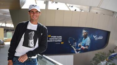 Rafael Nadal inaugura su academia en Kuwait