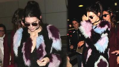 Kendall Jenner aturdida con preguntas de Saint West