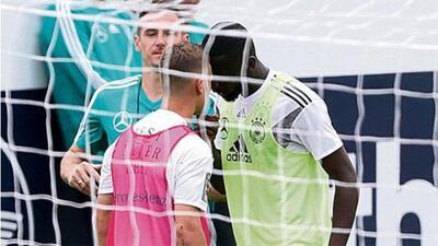 ¡Hay tiro! Kimmich y Rüdiger se 'calentaron' en concentración de Alemania