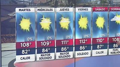 Temperaturas en los tres dígitos en Arizona