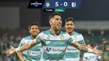 Santos Laguna masacra a Querétaro y avanza a Cuartos de Final
