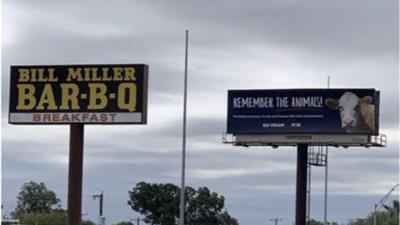 """""""Recuerda a los animales"""": este es el 'billboard' que paraliza la autopista en San Antonio"""