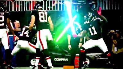 Entretenida celebración de los Atlanta Falcons a lo 'Star Wars'