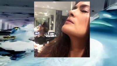 Salma Hayek posa semidesnuda en Instagram