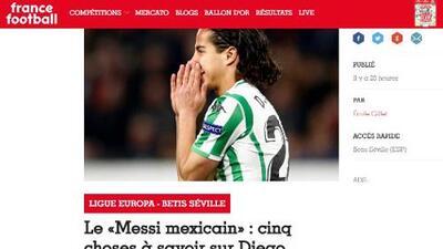 """""""Le Messi Mexicain"""" así llamó France Football a Diego Lainez tras gol en Europa League"""