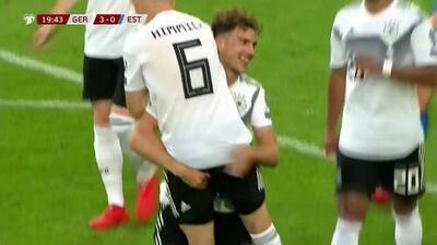 ¡GOOOL! Leon Goretzka anota para Germany