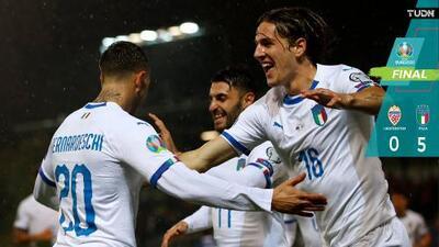 Italia le dio una 'manita' a Liechtenstein y cumplió con los pronósticos