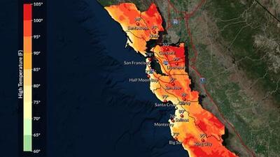 Una ola de calor que llega esta semana traerá temperaturas por encima de 100° F al Área de la Bahía