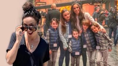 Mira a lo que se enfrentó Inés Gómez Mont cuando sus siete hijos la visitaron en el estudio