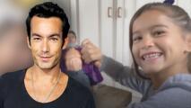 La hija mayor de Aarón Díaz descubrió que su papá también es un muñeco de plástico