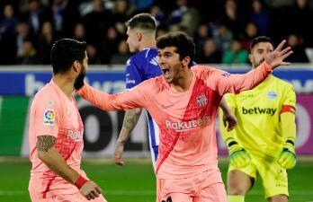 En fotos: Barcelona se acerca más al título en Liga de España tras vencer al Alavés