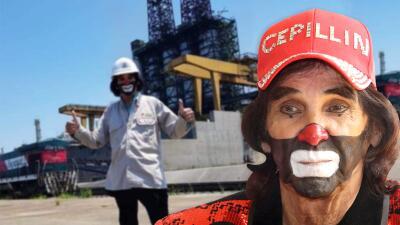 """""""Yo no soy ratero"""": el payaso Cepillín se mete en aprietos por entrar a una refinería mexicana"""