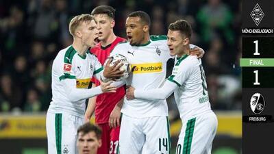 El Gladbach empata con el Freiburg y se instala en la tercera posición de la Bundesliga