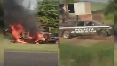 Más de 100 disparos: criminales emboscan un convoy policial en Michoacán, México, y matan a 13 agentes
