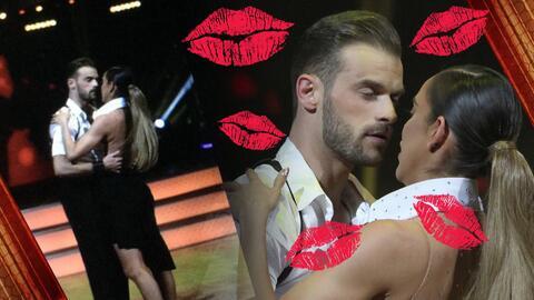 En esto pensaba Sara Corrales al momento del besar a su bailarín en 'I Will Always Love You'