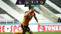 Wolverhampton rescata un punto ante Newcastle
