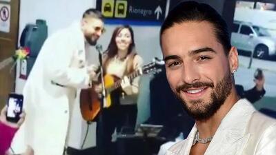 Maluma sorprende a músicos callejeros y canta junto a ellos en pleno aeropuerto de Colombia