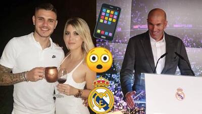¡Apuntan a Mauro Icardi! Mientras Zidane era presentado, el Real Madrid contactó a Wanda Nara