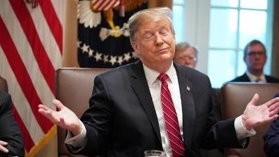 """Trump dice que """"no está feliz"""" con el acuerdo preliminar para evitar un nuevo cierre del gobierno"""