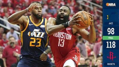 Sin oposición: triple-doble de James Harden y los Rockets apalean al Jazz en el Juego 2