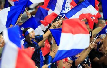 La fiesta en París, para el Francia vs. Alemania, la pusieron los fanáticos locales