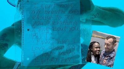 (Video) Joven murió pidiéndole matrimonio a su pareja bajo el agua